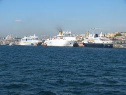 Cruise liners in the port of Istanbul
