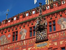 Facade of the Basel Town Hall close-up