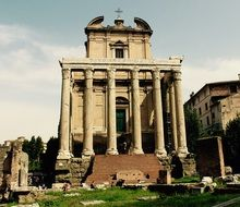 Historical building in the Rome