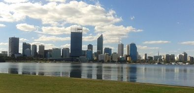 Picture of the skyscrapers in perth