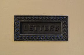 "logo ""letters"" on the front door"