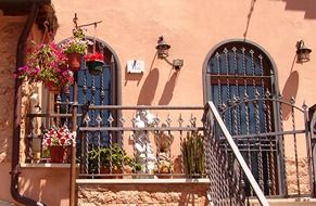 italy balcony with flowers
