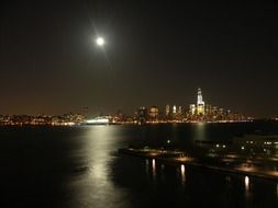 Moonlight and night New York