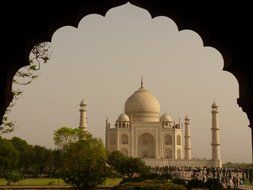 Taj Mahal - the mausoleum of mosque, located in Agra