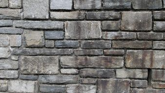 grey stone wall texture, background