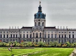 park in courtyard of Charlottenburg Palace, germany, berlin