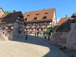 medieval imperial castle, germany, nuremberg