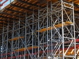 Scaffolding close-up