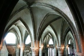 interior of mont saint michel abbey