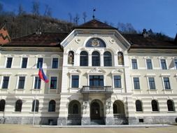 Facade of a government building in the Principality of Liechtenstein