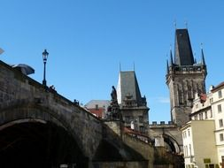 charles bridge in old town, czech, prague