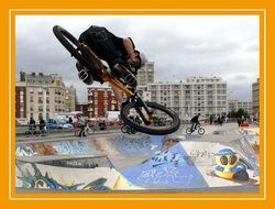 Picture of bmx bike skate park