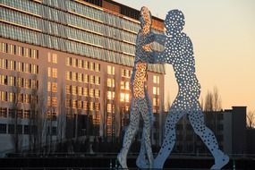 Molecule men sculpture, germany, Berlin