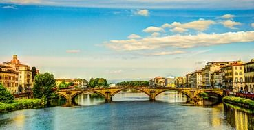 Florence architecture by the river