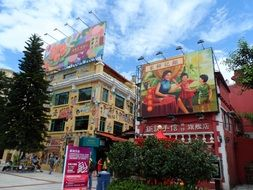 guanyejie, scenic historical street at day, china, macau