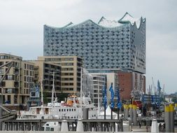 The Elbphilharmonie is a concert hall in the HafenCity quarter of Hamburg