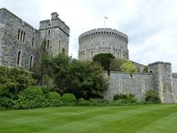 Tower of Windsor Castle in London