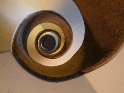 Top view of a spiral staircase