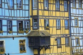 colorful facades of houses in Strasbourg