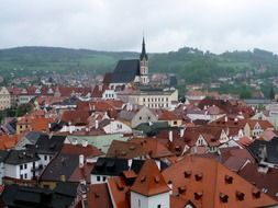 panoramic view of the old town in chesky krumlov