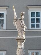 A statue of the saint florian in Salzburg