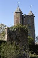Tudor gatehouse with brickwork