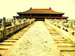 Picture of the ancient architecture in China