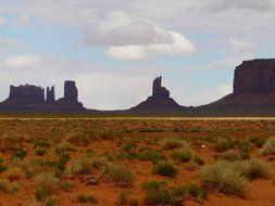picturesque landscapes in Kayent's Monument Valley
