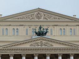 bolshoi theater architecture in moscow russia