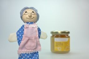 doll grandma with honey