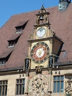 Clock at the Town Hall in Heilbronn