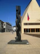Monument on the square in the Principality of Liechtenstein