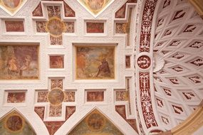Vaults with frescoes of the palace in Bavaria