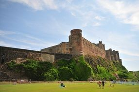 Magnificent bamburgh castle in northumberland