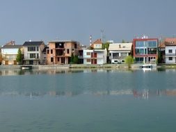waterfront houses view