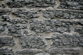 stone wall old gray concrete