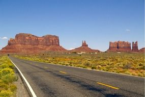 road in the monument valley, USA