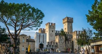 scaliger castle on garda lake sirmione