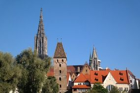 Panorama of cathedral in ulm