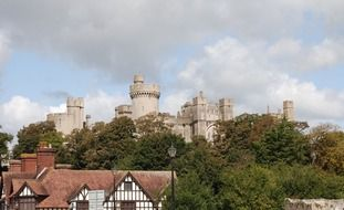 view of the Arundel castle in England
