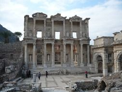 Celsus Library - Ancient Roman Library in Ephesus, Turkey