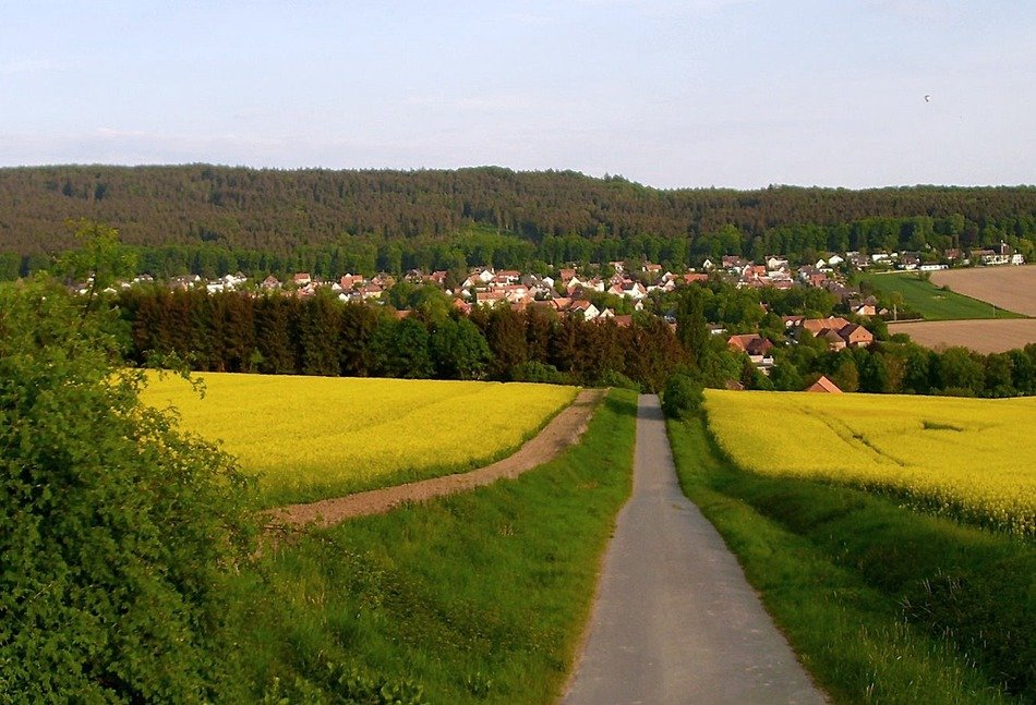 country road in germany