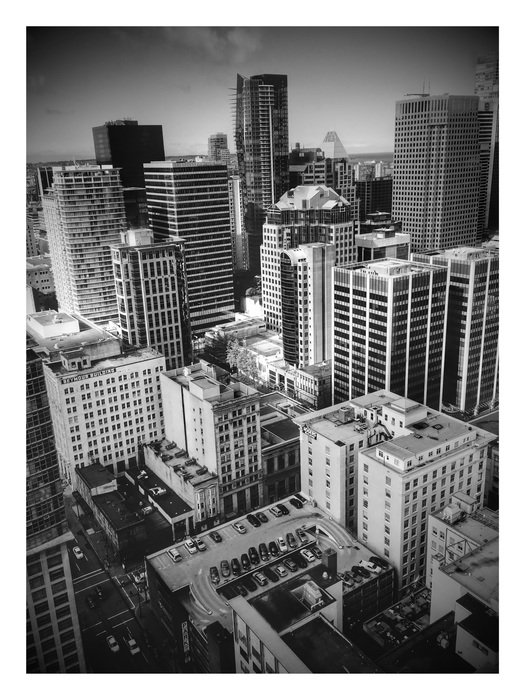 Top view on vancouver