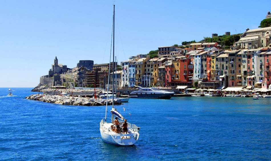 Beautiful landscape of Porto Venere in Italy