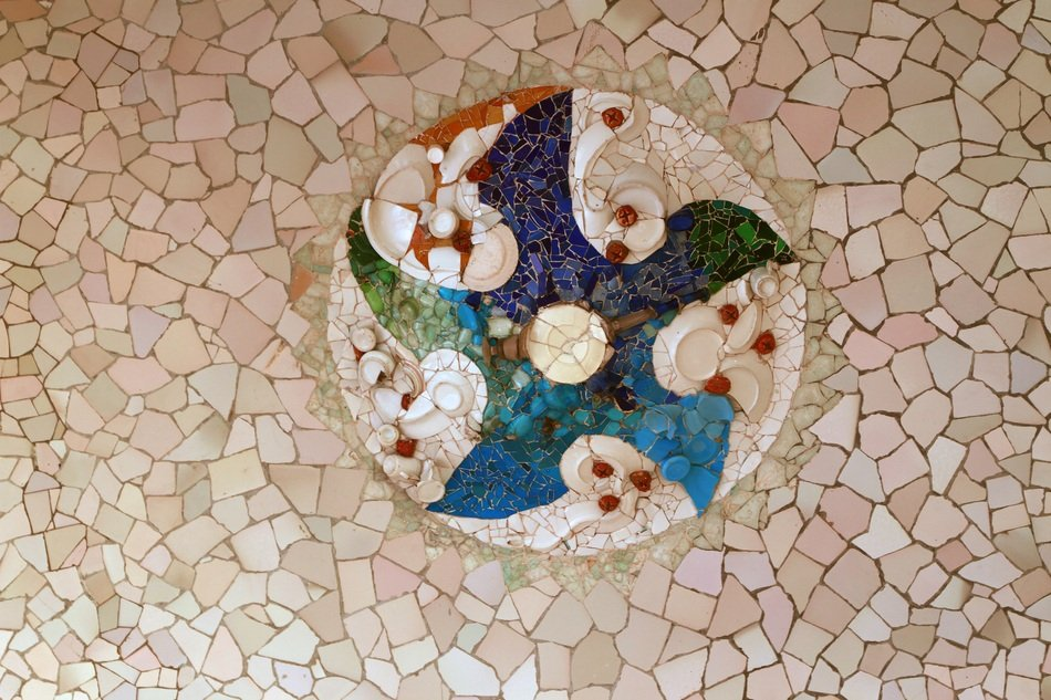 Colorful park guell mosaic