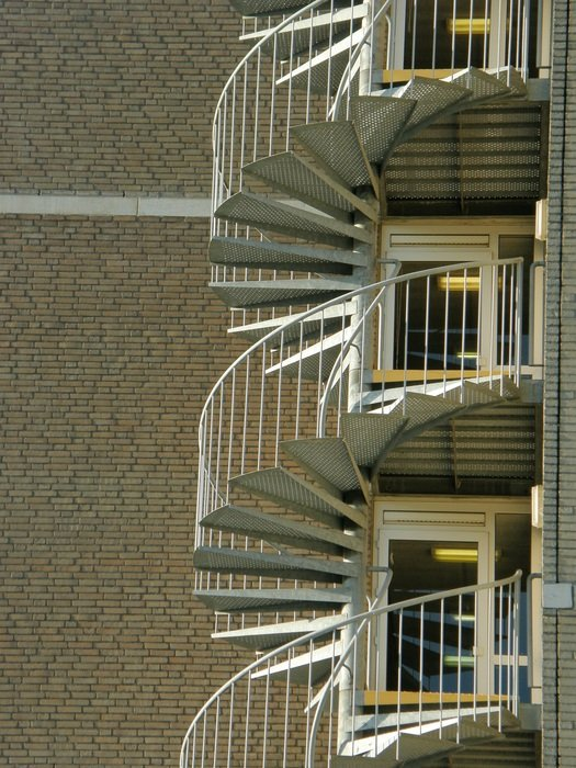 spiral staircase on a building