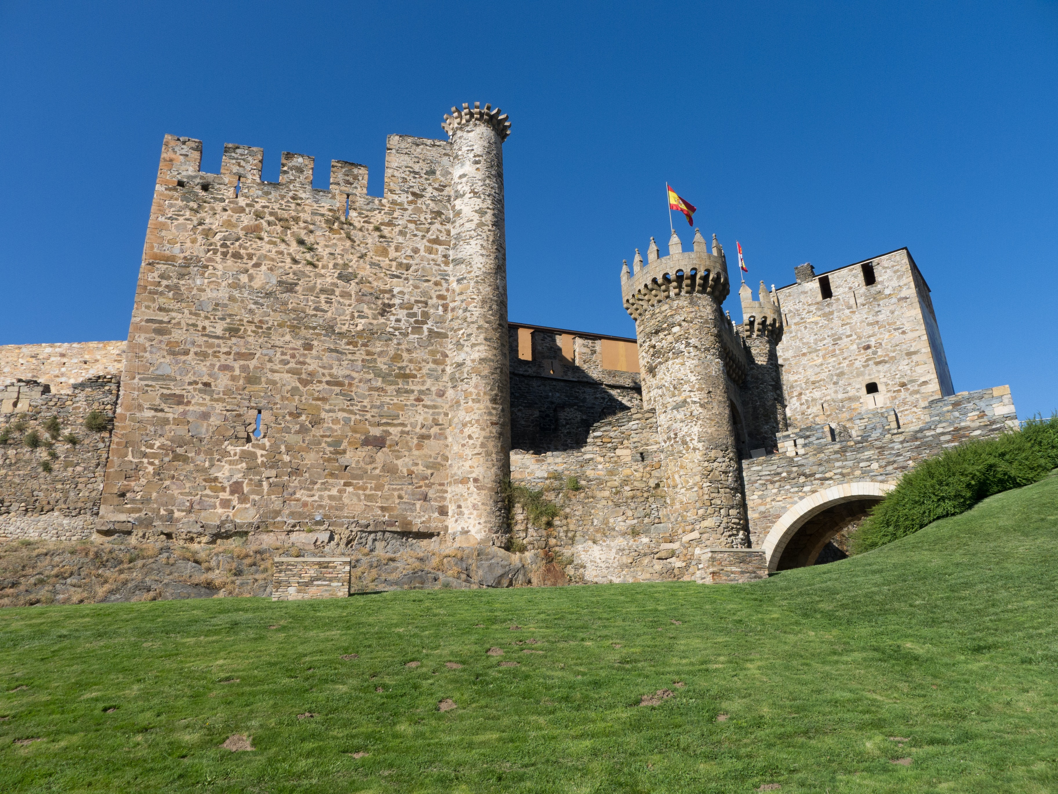 High stone fortress from middle ages free image