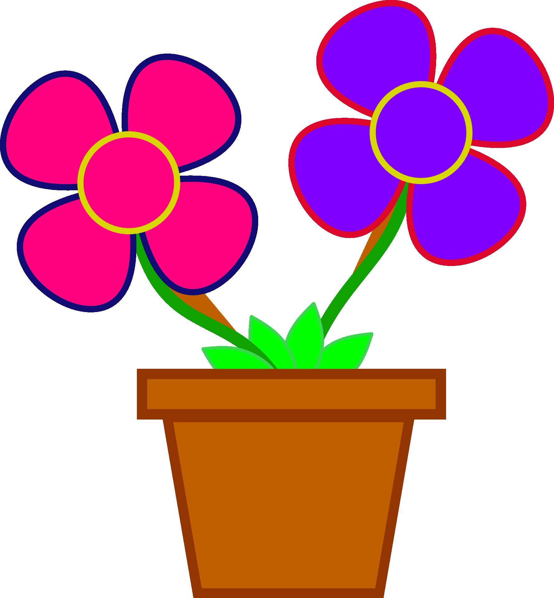 Картинка цветок в горшке