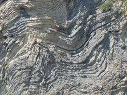gray rock layers