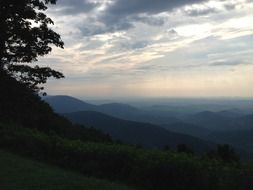 blue ridge mountains at early morning, usa, virginia
